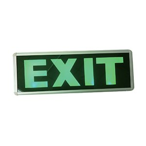 AELEXG3WD-LED AELEXG3WS-LED – LED EMERGENCY LIGHTS exit sign, 3 watts led, Single / Double sided 1.2V 0.8Ah Lead acid battery, Charging time <24hrs. Operating time  hrs.